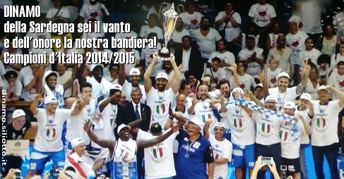 Poesia per la Dinamo Sassari campione d'Italia 2015